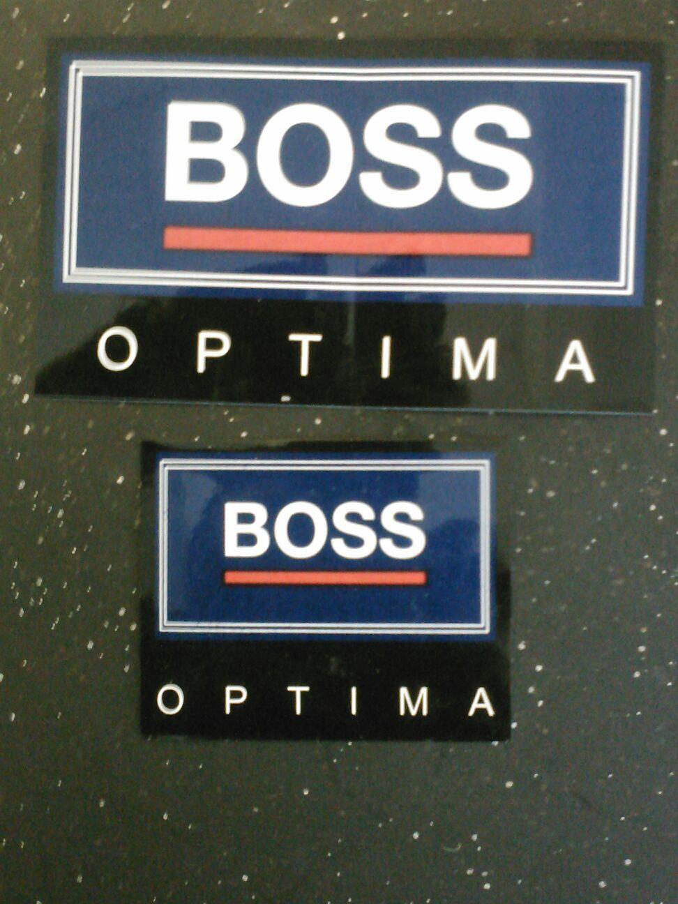These Boss Optima decals are designed to be placed on ...